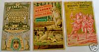 Victorian Trade Card Lot - Boxing Sports Hotel Minstrel